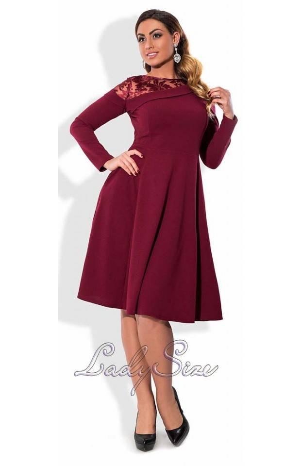 платье трикотажное ниже колена купить