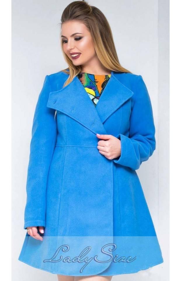 осенние пальто для полных