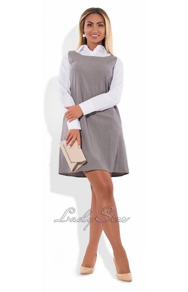 купить офисное платье больших размеров