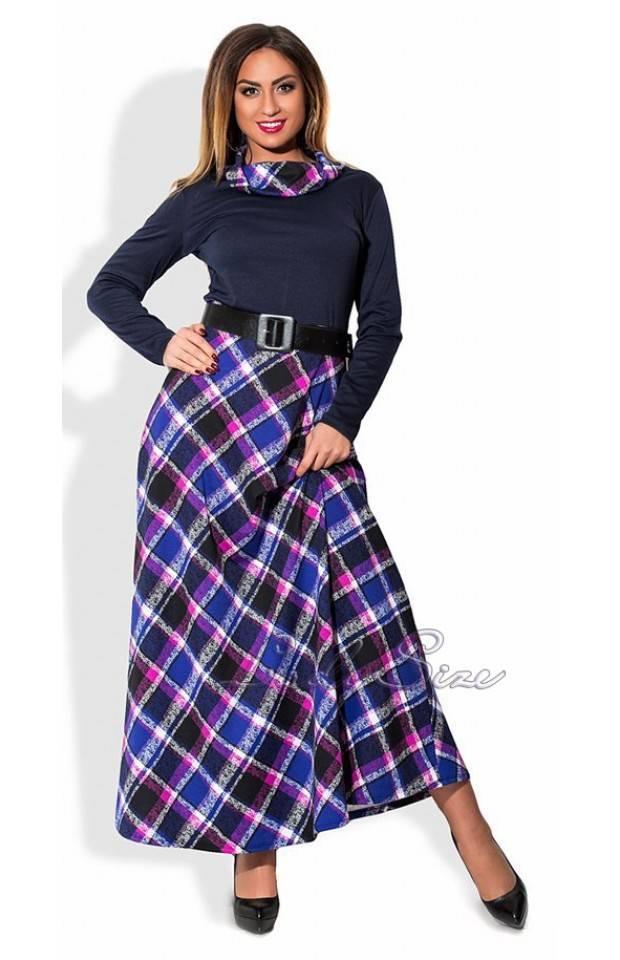 трикотажные длинные платья больших размеров